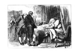 George Washington on His Deathbed, Mount Vernon, Virginia, USA, 1799 Giclee Print