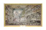 The Performance of Armida in the Old Auditorium of the Opera House, after 1761 Giclee Print by Gabriel Jacques de Saint-Aubin