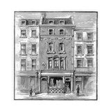 Lord Byron's Birthplace, Holles Street, Cavendish Square, London, 1888 Giclee Print