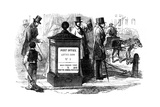 One of London's First Pillar (Lette) Boxes, 1855 Giclee Print