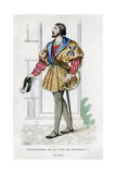Gentlemen of the Court of Francis I of France, 16th Century (1882-188) Giclee Print by  Petit