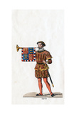 Guard, Costume Design for Shakespeare's Play, Henry VIII, 19th Century Giclee Print