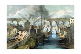 Train Crossing Stockport Viaduct on the London and North Western Railway, C1845 Giclee Print