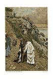 Jesus Casting Devils Out of a Kneeling Man, C1890 Impression giclée par James Jacques Joseph Tissot