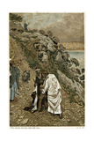 Jesus Casting Devils Out of a Kneeling Man, C1890 Giclée-tryk af James Jacques Joseph Tissot