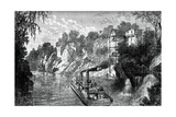 Loading a Cotton Steamer, C1880 Giclee Print