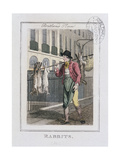Rabbits, Cries of London, 1804 Giclee Print by William Marshall Craig