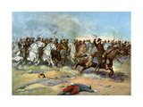 Cavalry Charge by Us Regulars, Spanish-American War, 1898 Giclee Print