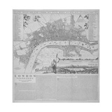 Map of London, 1666 Giclee Print by Frederik de Wit