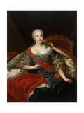 Portrait of Johanna-Elizabeth, Electress of Anhalt-Zerbst, (1712-176), C1746 Giclee Print by Antoine Pesne