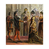 Marriage of Henry V, 1420 Giclee Print
