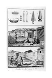 Sea Fishing, Net Manufacture, 1751-1777 Giclee Print by Denis Diderot
