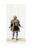 Buckingham, Costume Design for Shakespeare's Play, Henry VIII, 19th Century Giclee Print