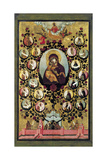 Apotheosis of the Virgin of Vladimir, 1668 Giclee Print by Simon Ushakov