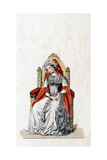 Lady-In-Waiting, Costume Design for Shakespeare's Play, Henry VIII, 19th Century Giclee Print