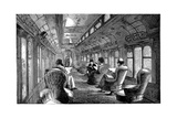 Pullman Drawing Room Car on the Midland Railway, England, 1876 Giclee Print