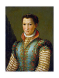 Portrait of Eleanor of Toledo, 1560S Giclee Print by Alessandro Allori