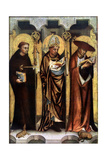 St Giles, St Gregory, and St Jerome, C1380 Giclee Print
