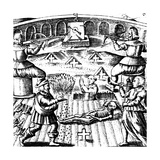 The Eighth Key of Basil Valentine, Legendary 15th Century German Monk, 1651 Giclee Print