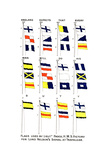 Flags Used for Nelson's Famous Signal at the Battle of Trafalgar, 1805 Giclee Print