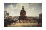 The Consecration of the Monument to the Millennium of Russia in Novgorod on 1862, 1864 Giclee Print by Gottfried Willewalde