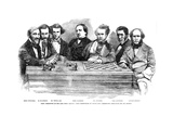 Chess Celebrities at the Late Chess Meeting, 1855 Giclee Print