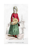 Bourgeoise in Costume of the Time of Charles VI of France, 1382 (1882-188) Giclee Print by  Petit