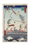 Prosperity Throughout the City During the Tanabata Festival, 1856-1858 Giclee Print by Utagawa Hiroshige