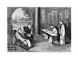Domestic Scene, Ladies at their Usual Employments, 1847 Giclee Print by  Evans
