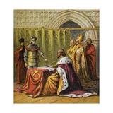 Richard II Abdicates, 1399 Giclee Print