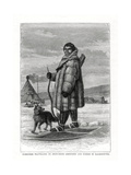Samoyede Travelling on Snow-Shoes, Russia, 1877 Giclee Print
