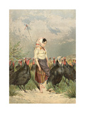 The Turkey Guardian, 1858 Giclee Print