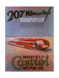 Poster Advertising Castrol, Featuring a Sunbeam Car, C1927 Giclee Print