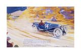 Poster Advertising a Ballot 2 Litre Sports Car Giclée-tryk