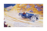 Poster Advertising a Ballot 2 Litre Sports Car Giclee Print