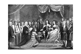 Parliament Offering the Crown to William and Mary, 1689 Giclee Print by James Northcote