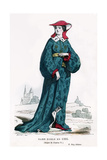 Noblewoman of the Time of Charles VI of France, 1395 (1882-188) Giclee Print by  Petit