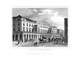 Italian Opera House, Haymarket, Westminster, London, Late 18th - Early 19th Century Giclee Print