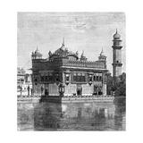The Golden Temple and the Lake of Immortality at Amritsar, India, 1895 Digitálně vytištěná reprodukce