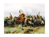 The Exploit of the Mounted Regiment in the Battle of Austerlitz, 1884 Giclee Print by Gottfried Willewalde