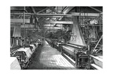Interior of the Weaving Shed, St Leonard's Factory, Dunfermline, C1880 Giclee Print