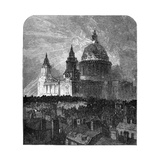 St Paul's Cathedral Illuminated for Thanksgiving Day, London, 1900 Giclee Print