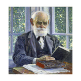 Portrait of the Physiologist, Psychologist, and Physician Ivan P. Pavlov, (1849-193), 1930 Giclee Print by Mikhail Vasilyevich Nesterov