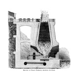 Section of a Blast Furnace, Showing its Food, C1880 Giclee Print