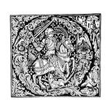 Initial Q, 1490 Giclee Print