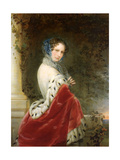 Portrait of Empress Alexandra Fyodorovna (Charlotte of Prussi), Emperor's Nicholas I Wife Giclee Print by Christina Robertson