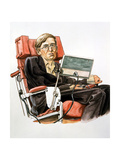 Stephen William Hawking, British Theoretical Physicist Giclee Print