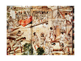 The Building of Mexico City, 16th Century Giclee Print