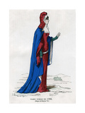 Noblewoman of the Time of Charles VI of France, 1386 (1882-188) Giclee Print by  Petit