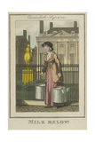 Milk Below!, Cries of London, 1804 Giclee Print by William Marshall Craig